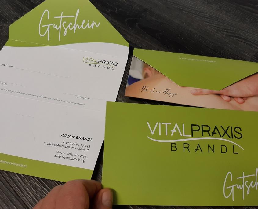 Massagegutscheine von der Viatpraxis Brandl in Rohrbach