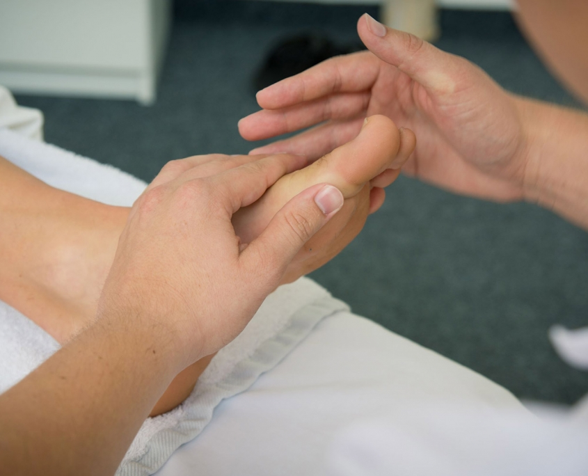 Fußreflexzonen Massage in der Vitalpraxis Brandl in Rohrbach